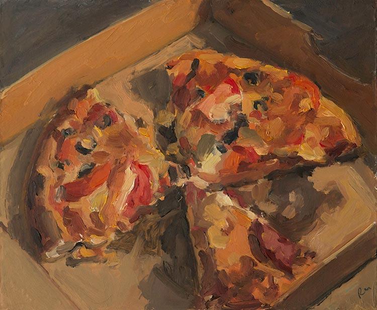'Cold Pizza', 2016, 23x28cm