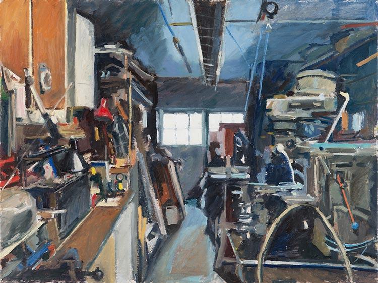 'David Thomas Shed', 2017, 80x120cm