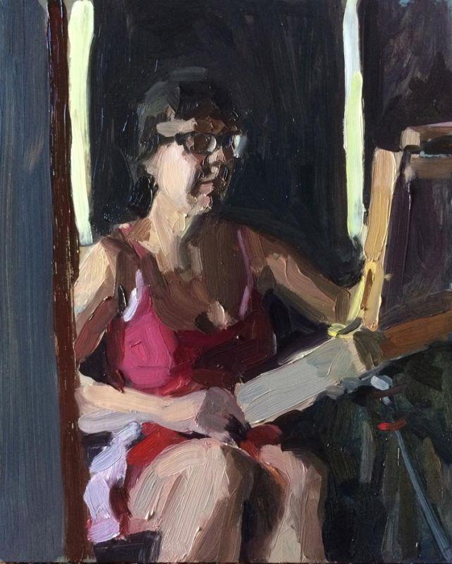 'Unsure', 2016, 23x28cm. Finalist in the 2016 Kilgour Prize